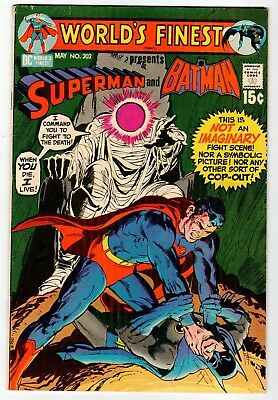 DC - WORLD'S FINEST #202 Superman And Batman - VG May 1971 Vintage Comic