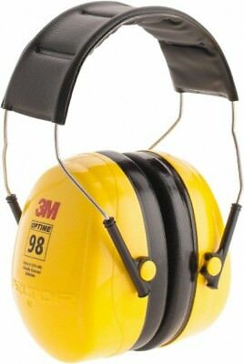 3M Single Position, 25 NRR, Black and Yellow Earmuffs Over the Head
