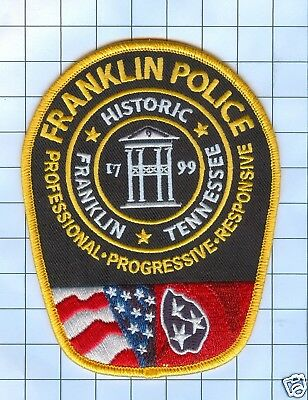 Police Patch  - Tennessee -Historic Franklin Tennessee