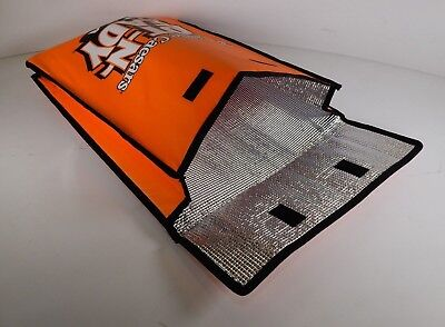 "18"" x 15"" x 4"" Thermal Insultated Pizza Bag - Little Caesars HOT-N-READY Orange"