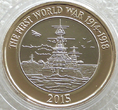 UNCIRCULATED 2015 First World War Navy Belfast £2 Two Pound Coin Father Day gift