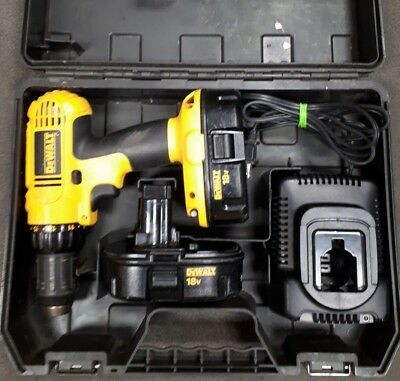Dewalt 18 V Drill DC759 With 2 Batteries/Charger And Case