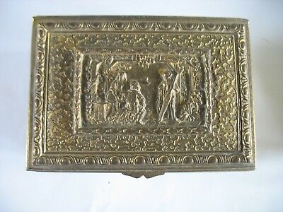 Early 1900 J.B. JENNINGS BROTHERS Swiss MUSIC JEWELRY BOX Gold Swag Vienna Woods