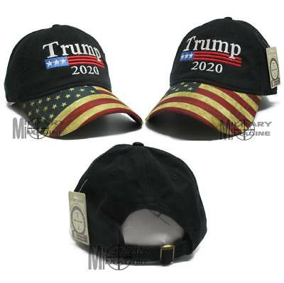 Donald Trump Black Cap USA Flag Keep America Great Maga hat President 2020