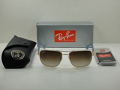 46ad764adfcca ... italy authentic ray ban sunglasses rb3530 001 13 gold frame brown  gradient lens 58mm 6e5a4 2a0f4