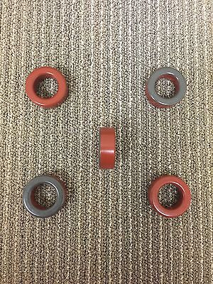 Iron Powder Red Toroidal Core T-157-2. Lot of 10 toroids for $37.00