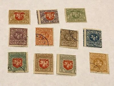 Lithuania 1919  Collection       used  (3790)