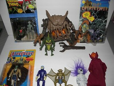 Huge mixed Monster Figure Lot Crypt Keeper, Ghostbusters,Swampthing