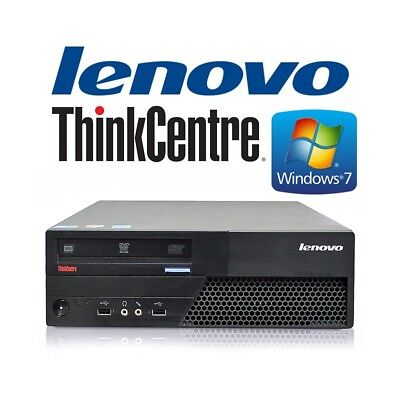 desktop computer lenovo thinkcentre m58 windows 7 (c.3) pc refurbished with gara