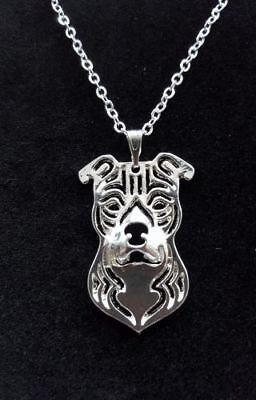 Staffordshire Bull Terrier Dog Cute necklace 18""