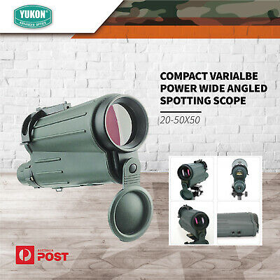 Yukon Compact Varialbe Power Wide Angled Spotting Scope 20-50x50 Hunting Archery