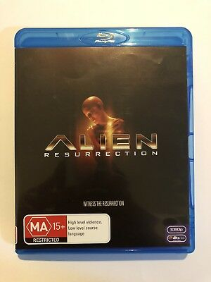 Alien Resurrection (Blu-ray, 2011) Rated MA15+ Sci-Fi Movie VGC Movie 🍿 👽