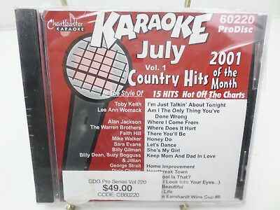 CHARTBUSTER KARAOKE COUNTRY HITS OF JULY 2001 VOL 1 CD+G player needed new