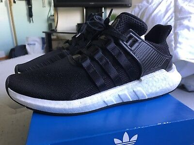 new styles fd2b5 f864d Adidas EQT SUPPORT 9317 BB1236 Core BlackWhite Milled Leather Mens Size  9.5