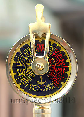 """Shiny Brass Nautical Ship Engine Room Telegraph 7""""Collectible Maritime Gift."""