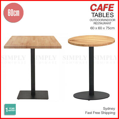 Wood Restaurant Cafe Dining Table Bar Furniture Square Round Metal Legs Outdoor