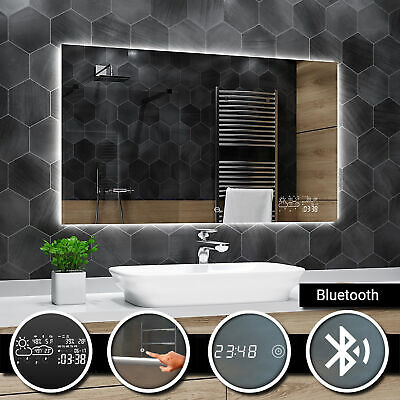Dubai Illuminated Led bathroom mirror | Bluetooth | Touch | Clock | Weather