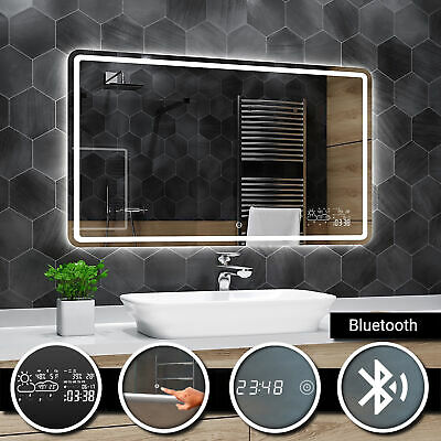 Madrid Illuminated Led bathroom mirror | Bluetooth | Touch | Clock | Weather