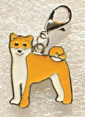Shiba Inu Dog Pup Bag Purse Charm Dangle Zipper Pull Jewelry
