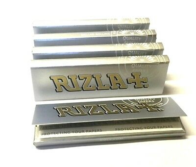 20 x RIZLA SILVER Super Thin Weight Regular Cigarette Rolling Cigarette Papers