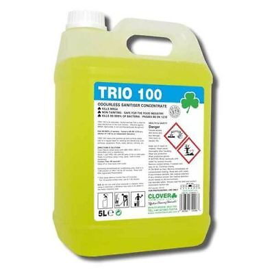 Clover Trio 100 Sanitiser Concentrate (2x5Ltr) 201