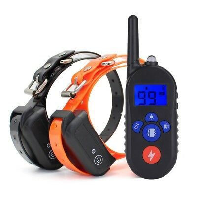 Electric Dog Shock Training Collar Waterproof Rechargeable Remote Pet Trainer US