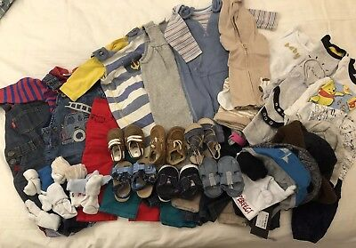 NEXT & John Lewis - Baby Boys 3-6 Months; 37 Items; Outfits, Shoes, Hats, Socks