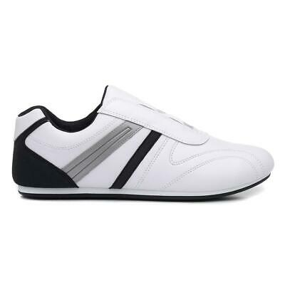Mens Trainer Slip On Sports Trainer in White by Podium