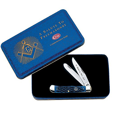 Case Masonic Trapper Pocket Knife #01058