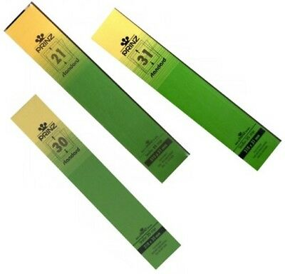 Prinz Stamp mounts strips 215mm long CLEAR backed per 25