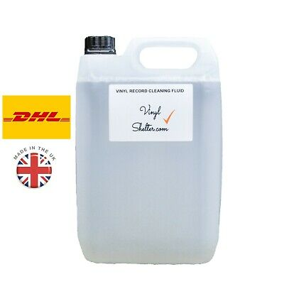 5 Litre Vinyl Shelter Record Cleaning Fluid, Anti-Static Cleaner, Knosti, 5L