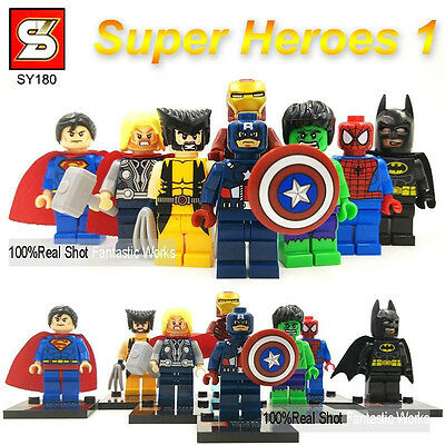 8 Pcs MARVEL DC MINI FIGS AVENGERS SUPER HEROES TOY GIFT FIT LEGO MINIFIGURES