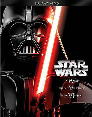 Star Wars Trilogy Episodes IV, V, VI (Blu-ray/DVD, 2013, 6-Disc Set) NEW SEALED
