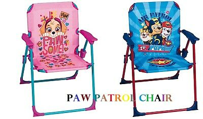 Children Kids Outdoor/Indoor Garden Foldable Patio Chair Paw Patrol- PINK & BLUE
