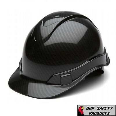 Pyramex Ridgeline Hard Hat Graphite Pattern Shiny Black Cap Style Hp44117S