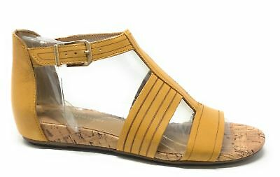 be5ee9907ddd Naturalizer Womens Longing Gladiator Sandal Yellow Size 7.5 Narrow US