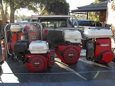 Honda Stationery Engines & Pump Mixed Lot All Run Good Will Require Services.