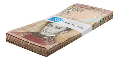 Venezuela 100 Bolivares X 50 Pieces (PCS), 2007-17, P-93, USED, Half Bundle,Pack
