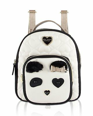 acfeab4a10 Betsey Johnson Women s Convertible Backpack Cream Black One Size