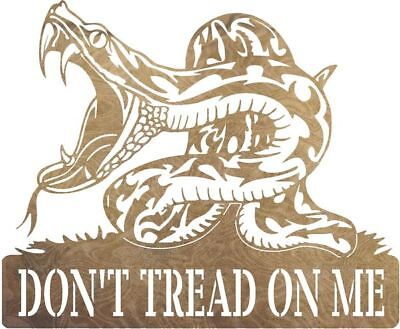 DXF CNC dxf for Plasma Dont Tread On Me 2 Wall Art Home Decor