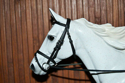 LSQ Snaffle Bridle, Black, Breyer Stone Model Horse, Traditional 1:9