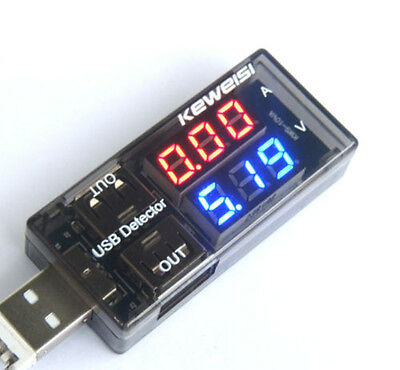 1X Mobile Power USB Charger Current Voltage Meter Battery Tester Measure Tool AU