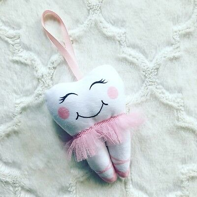 Tooth Fairy Pillow Girl Pink Ballerina Tutu