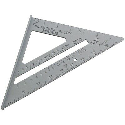 """6"""" Aluminium Alloy Roofing Rafter Speed Square Triangle Angle Guide Joinery Roof"""