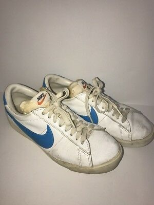 Vintage Nike Wimbledon Tennis Shoes 1970's made in japan leather Low 8-8.5