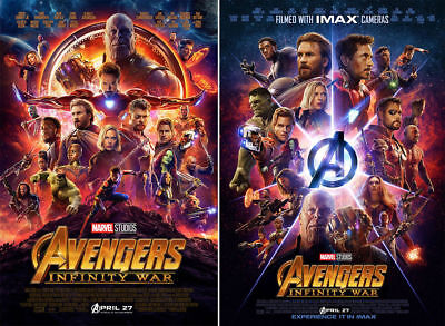 "Avengers Infinity War Movie Poster IMAX Film Print 13×20"" 20×30"" 24×36"" 27×40"""