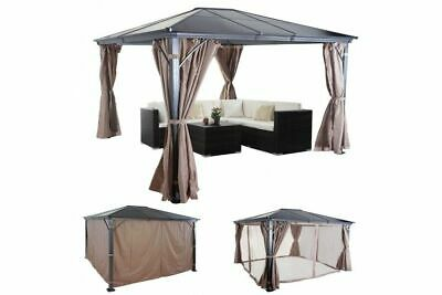 gartenpavillon anndora pavillon 3 6 x 3 6 m partyzelt holz aluminium natural eur. Black Bedroom Furniture Sets. Home Design Ideas