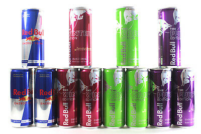 Red Bull Special Edition Set Original, Green,Purple, Winter - Zimt 0,97€/100ml