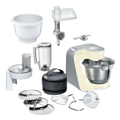 Bosch MUM58920 Küchenmaschine Smooth Vanilla inkl. MUZ5BS1 Baking Sensation
