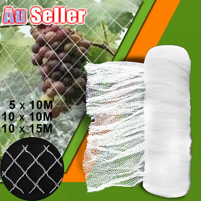 White 10M Wide Anti Bird Netting Pest Net Mesh Commercial Knitted Plant Fruit